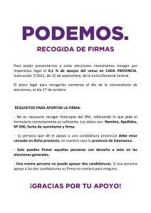 RECOGIDA DE FIRMAS (5 COPIAS COLOR)