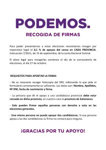 RECOGIDA DE FIRMAS (5 COPIAS COLOR)